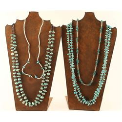 Lot of 3 Navajo Turquoise Necklaces