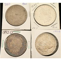 Lot of 4 Morgan Silver Dollars