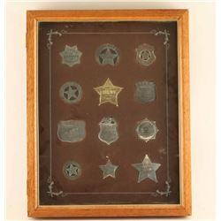Franklin Mint Shadow Box Framed Badges
