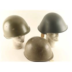 Lot of (3) Helmets