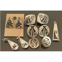 Lot of 5 Hopi Earrings &1 Pendant