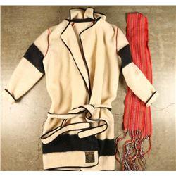 Wool Coat and Sash