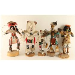 Lot of (5) Kachinas