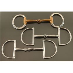 (3) English Snaffle Bits