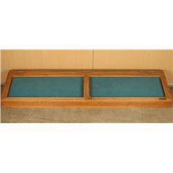 Wooden Countertop Display Cabinet