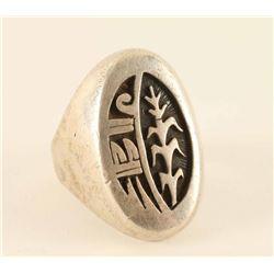 Heavy Sterling Hopi Men's Ring