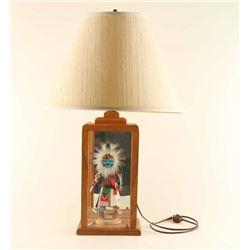 Shadow Box Table Lamp with Kachina
