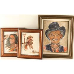 Lot of (3) Original Paintings by J Corral