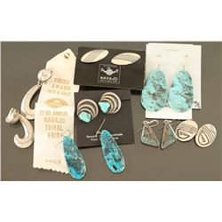 Lot of 6 Navajo Earrings & Cuff Links