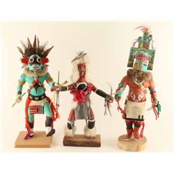 Lot of (3) Hopi Kachinas