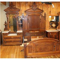 Antique Victorian Three Piece Bedroom Set