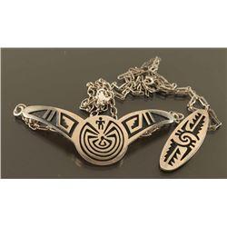 Lot of 2 Hopi Sterling Necklaces