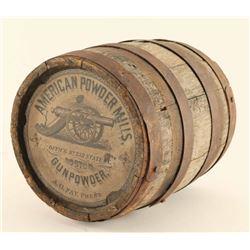 American Powder Mills Gunpowder Barrel