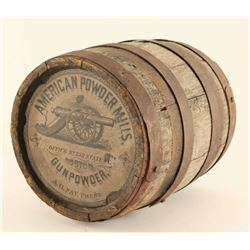 American Powder Mills Gunpowder Barrel