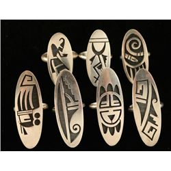 Lot of 7 Hopi Rings