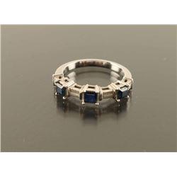 Ladies Sapphire and Diamond Ring Size 6.75