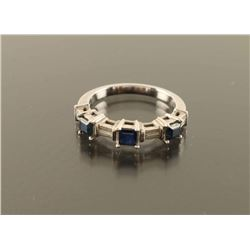 Ladies Sapphire and Diamond Ring Size 6.75