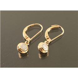 Ladies Diamond Dangle Earrings