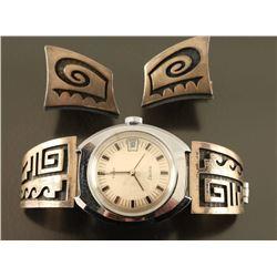 Hopi Watch Band & Cuff Links