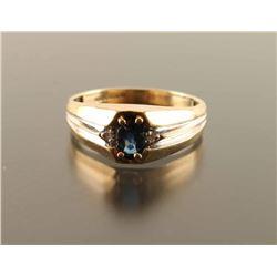 Unisex Sapphire and Diamond Ring Set