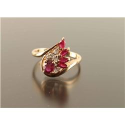 Ladies Ruby and Diamond Ring Set
