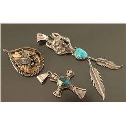 Lot of (3) Native American Pendants