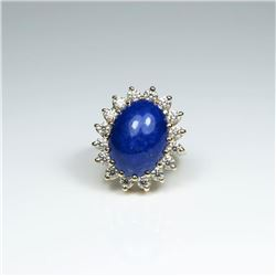 Gorgeous Vintage Lapis & Diamond Ring