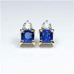 Amazing Ceylon color Blue Sapphire and Diamond