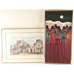 Lot of (2) Framed Art Pieces