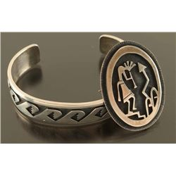 Hopi Cuff Bracelet and Pendant/Pin