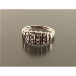 Tanzanite Diamond Dome Ring Size 7