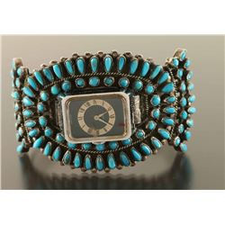 Zuni Cluster Turquoise Watchband Cuff