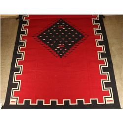 Large Pictorial Diamond Center Wool Rug