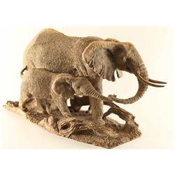 Iron Wood Elephant Carving