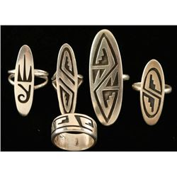 Lot of Native 5 Rings