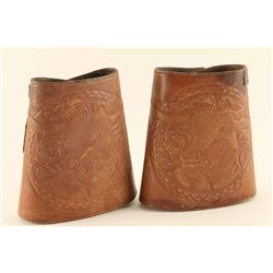 Leather Embossed Cowboy Cuffs