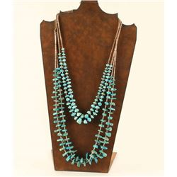 Lot of 2 Turquoise Beaded Necklaces
