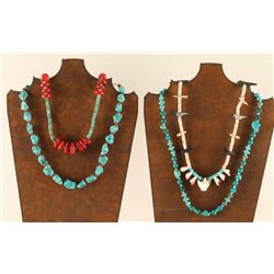 Lot of (4) Navajo Necklaces