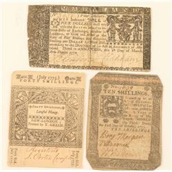 Lot of Colonial Currency
