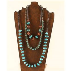 Lot of 3 Turquoise Beaded Necklaces