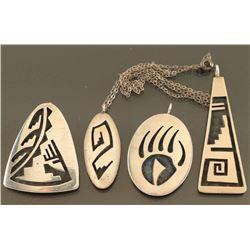 Lot of 4 Hopi Pendants