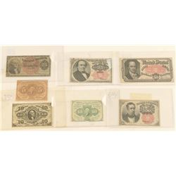 Lot of US Fractional Currency