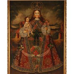 Original oil of Madonna