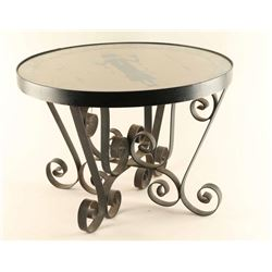Indian Sand Painting Side Table