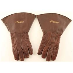 Vintage INDIAN Motorcycle Gauntlet Gloves