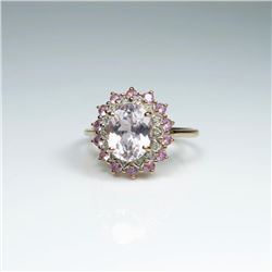 Lovely Morganite, Pink Tourmaline & Diamond