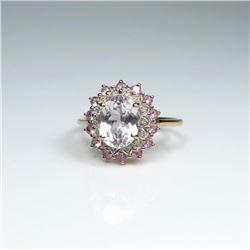 Lovely Morganite, Pink Tourmaline & Diamond