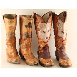 Lot of (2) Bob Brown Cowboy Boots