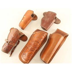 Lot of (5) Leather Holsters