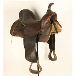 Vintage Highback Saddle